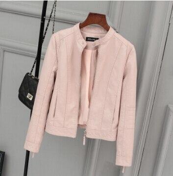 Leather Short Section autumn Women New Lo Comotive PU Leather Short Jacket Collar collar Slim leather Jacket