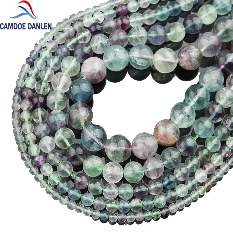 Natural Stone Beads Colorful Fluorite Round Beads 15Strand 4 6 8 10 12MM Pick Size Beads Jewelry Making Diy Jewelry Accessories цена