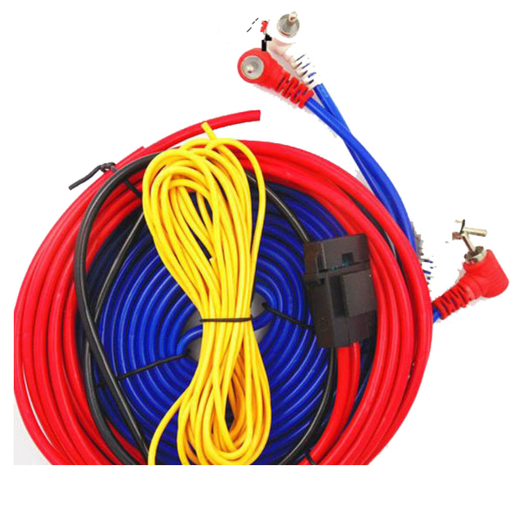 Amplifier Subwoofer 60w 4m Length Professional Car Audio Wire Wiring Speaker Installation Wires Cables Kit In Line From Automobiles Motorcycles On