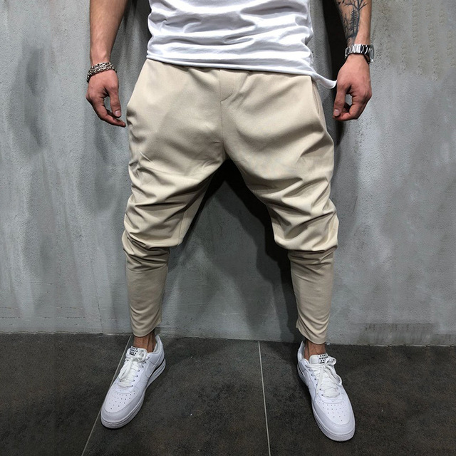 Men's Joggers Pants Streetwear Hip Hop Trousers Casual Harem Pants Male Loose Slim Fitness Soft Plain Narrow Leg Opening Clothes 4