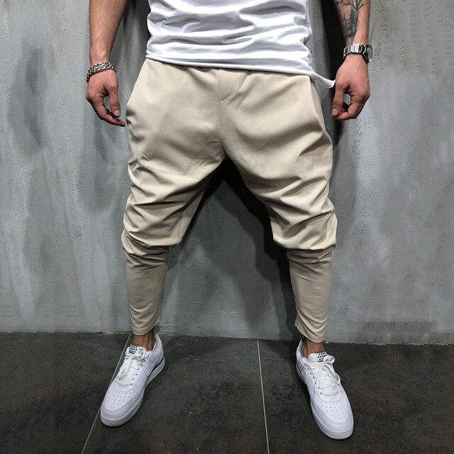 Men's Joggers Pants Streetwear Hip Hop Trousers Casual Harem Pants Male Loose Slim Fitness Soft Plain Narrow Leg Opening Clothes 4