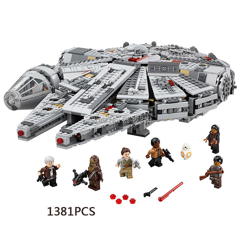 hot lepin building bricks compatible LegoINGlys Star Wars Millennium Falcon and BB-8 Robot with figures weapons block toys gift lepin 22001 pirate ship imperial warships model building block briks toys gift 1717pcs compatible legoed 10210