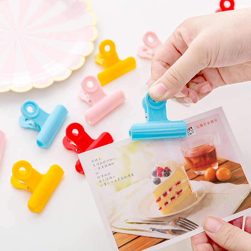 5Pcs/Lot Household Food Snack Storage Seal Sealing Bag Clips Sealer Clamp Food Bag Clips Kitchen Tool Home Food Close Clip