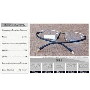 Image 5 - SUMONDY יוקרתי מאוד גמיש מקדש קריאת משקפיים גברים נשים משקפיים מגדלת ראיית משקפי Presbyopic R104