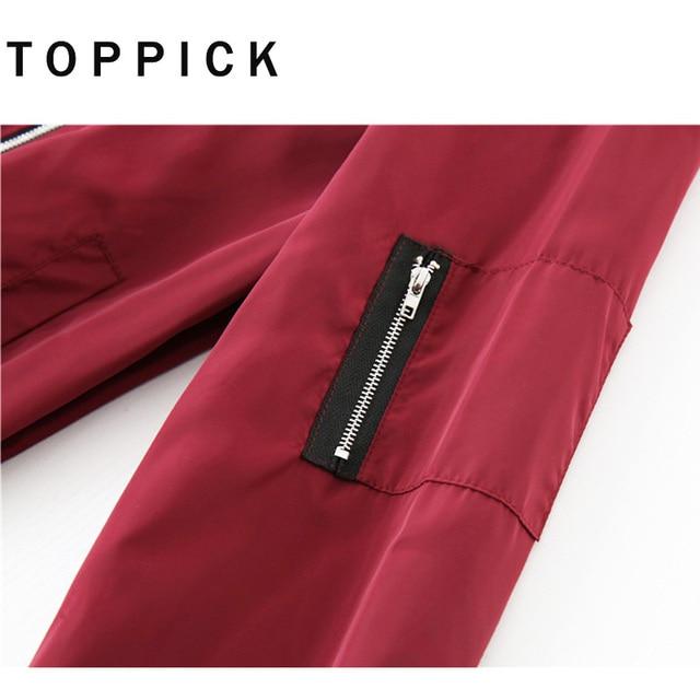 Autumn Long Sleeve Bomber Jacket 3