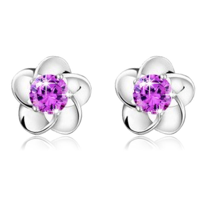 2018 New Fashion High Quality New Fashion Rose Flower Shaped Crystal Stud Earrings For Wo Accessory Jewelry