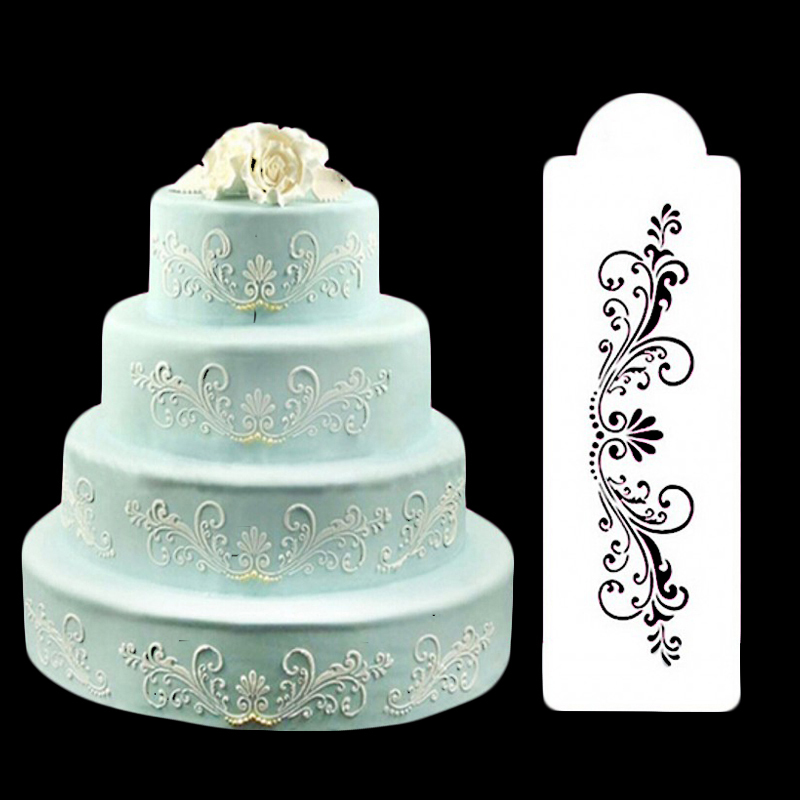 Bakeware 1PC Baking Kitchen Accessories Flower Fondant Cake Decorating Tools Cake Stencil Template Mold