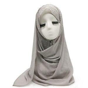 Image 4 - Écharpe en mousseline pour femme, châle en mousseline de soie pour femme, nouvelle mode, style musulman, bandana, 10 pièces, livraison rapide