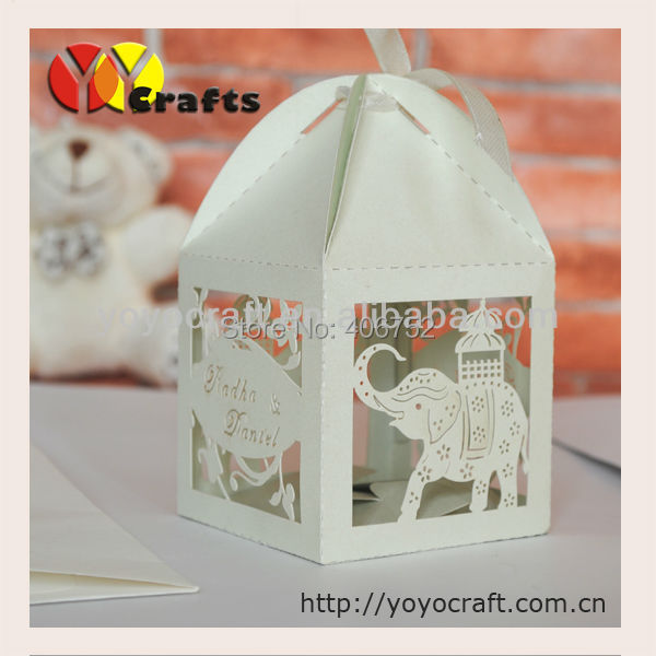 Wb30 Little Elephant Wedding Favors Gifts Elephant Candle Box Baby