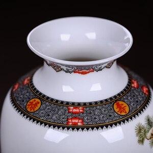 Image 3 - Jingdeedt vaso de cerâmica estilo chinês, artigos para decoração de casa, vaso fino de superfície suave