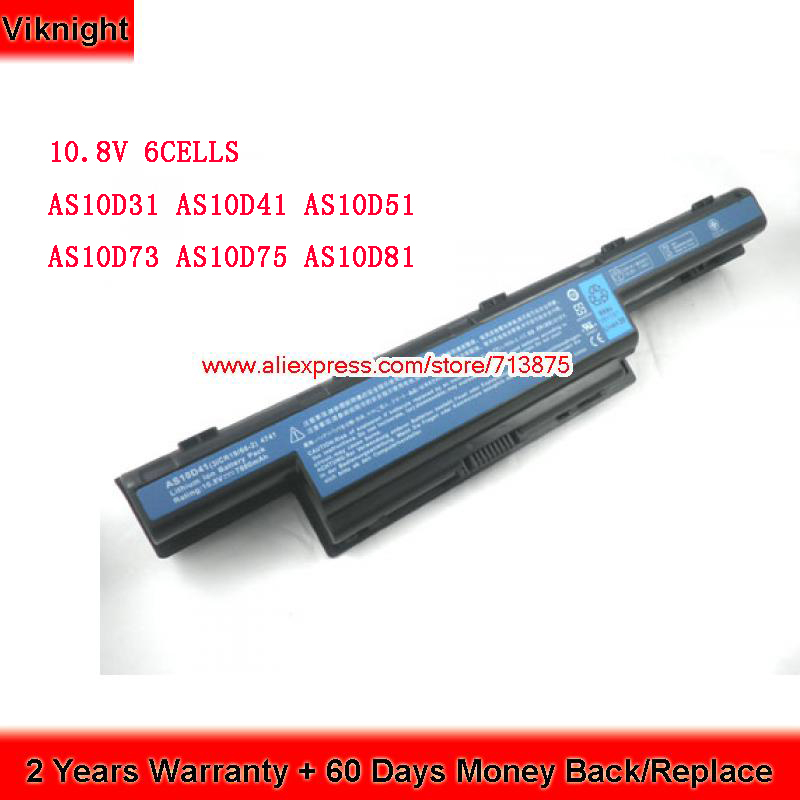 Original 10.8V 6 Cells AS10D31 AS10D81 Laptop <font><b>Battery</b></font> for <font><b>Acer</b></font> <font><b>Aspire</b></font> 5349 V3-571G <font><b>5750G</b></font> 5750 5742G 4741 P5we0 AS10D73 AS10D75 image