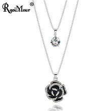 RAVIMOUR Silver Chain Long