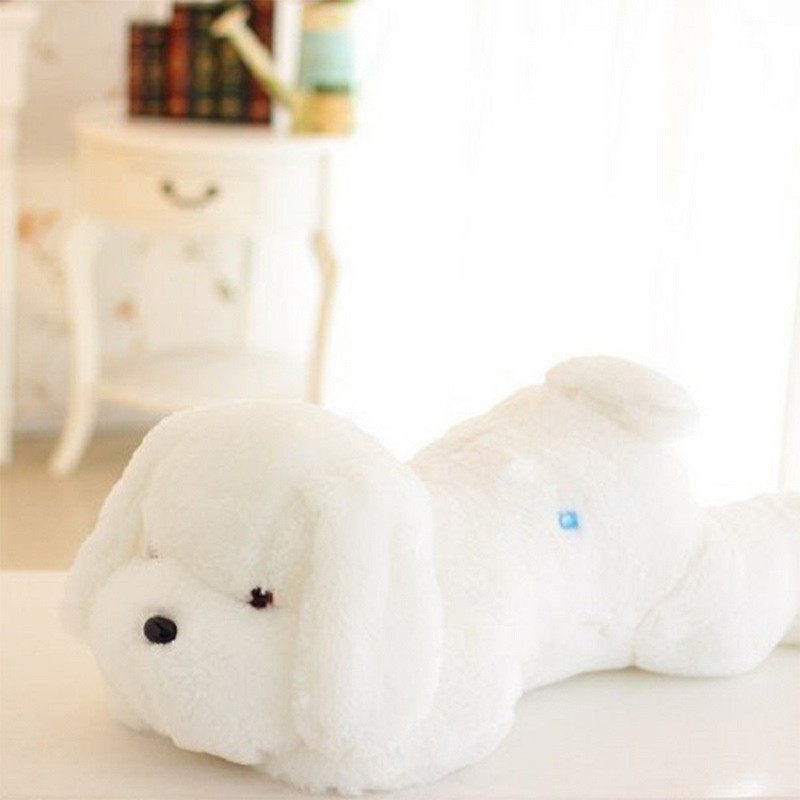 New Year 50CM and  80CM  Length Creative Night Light LED Lovely Dog Stuffed and Plush Toys Best Gifts for Kids and Friends  (5)