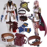 Athemis Final Fantasy XIIIFF13 Lightning Eclair Farron Cosplay Custume High Quality Same As Original Character Any