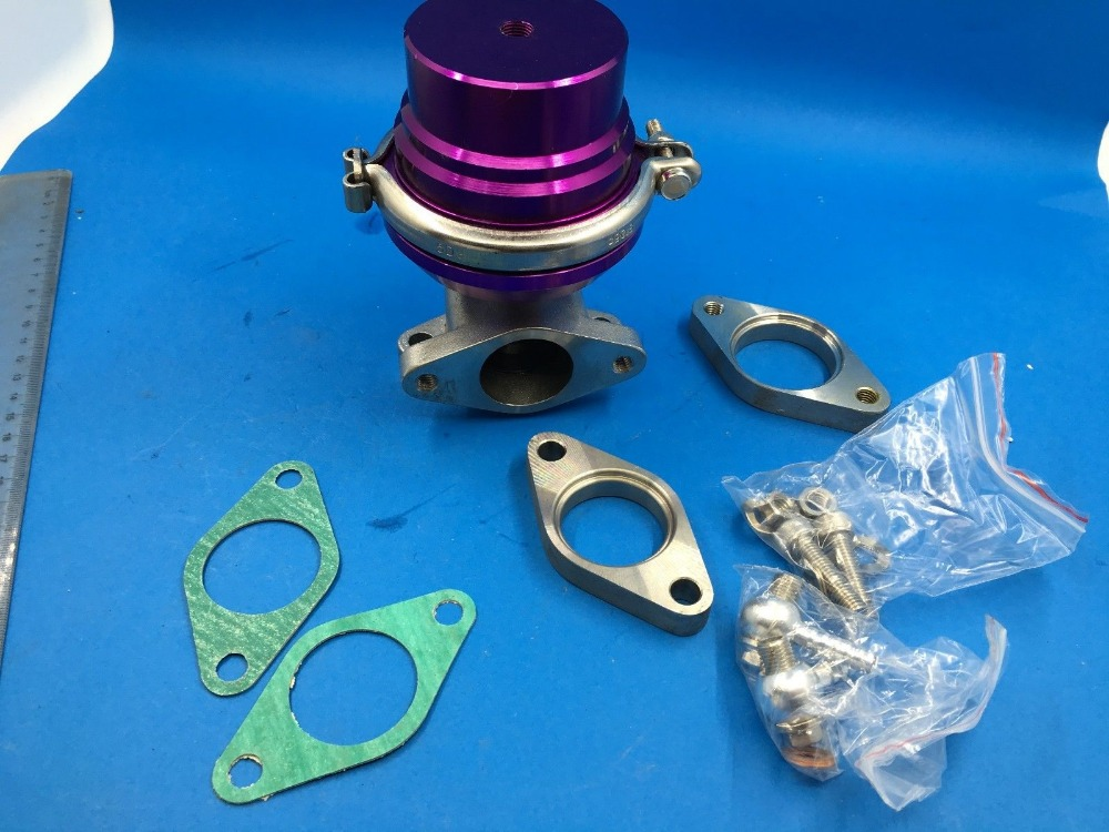 купить 35MM/38MM TURBO CHARGER MANIFOLD V-BAND EXTERNAL PURPLE WASTEGATE+8 PSI SPRING по цене 5439.12 рублей