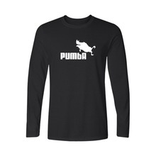 Funny Pumba New Fashion with TShirt Men Luxury European Style T Shirt Men Long Sleeve Cotton T-Shirt in Cotton Tees 4xl