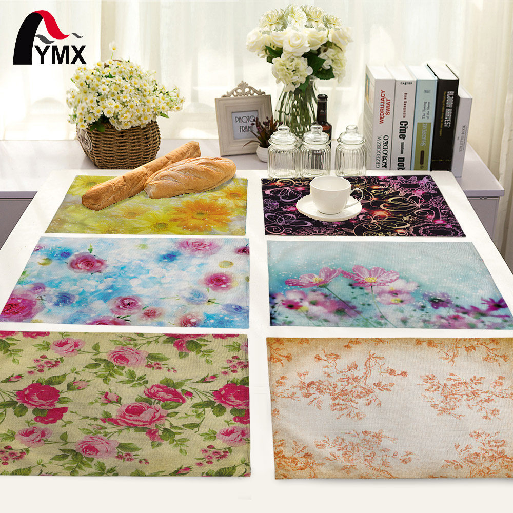 Plants Cotton Table Napkins Polyester Dinner Cloth Hotel Flower Table Napkins For Wedding Party Decoration Table Mat