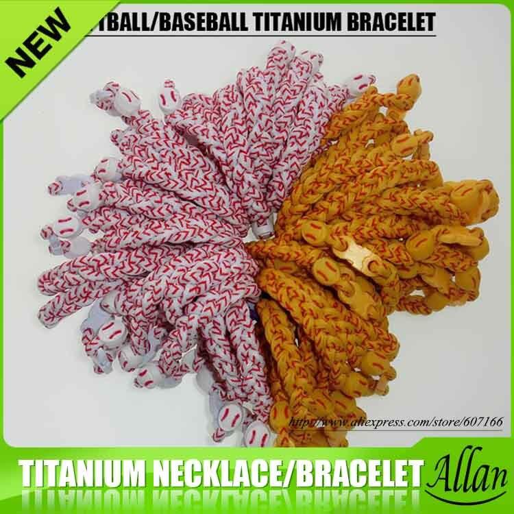 2019 softball baseball braided titanium  bracelet for sports  20 piece free DHL