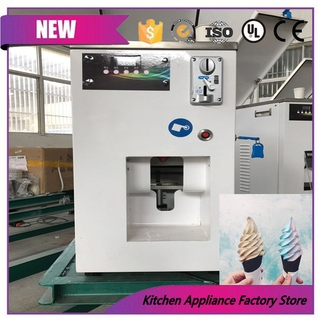 commerical 220v self cooling coin operated ice cream vending machine