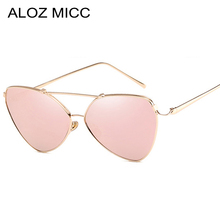 ALOZ MICC Sexy Irregular Mirror Sunglasses Women Fashion Brand Designer Men Alloy Frame Little Pilot Mirror Eyeglasses UV Q132