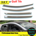 car styling Window Visors ForVolkswagen VW Golf 7th 2013 2014 2015 Sun Rain Shield Stickers Covers Awnings Shelters Car Accessor