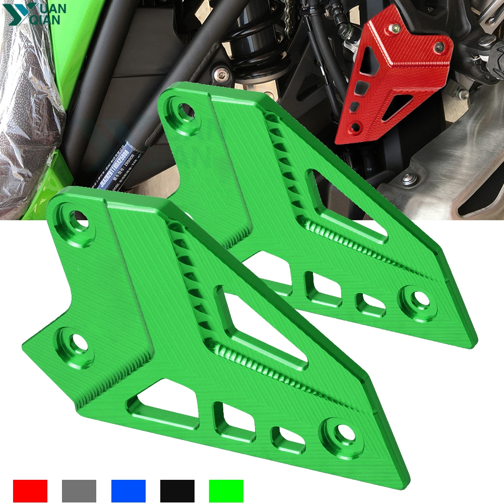 Motorcycle Accessories motorbike Foot Peg Heel Protection Protective Film Mount Heel Guard Protector For <font><b>Kawasaki</b></font> <font><b>Z</b></font> <font><b>900</b></font> <font><b>2017</b></font> image