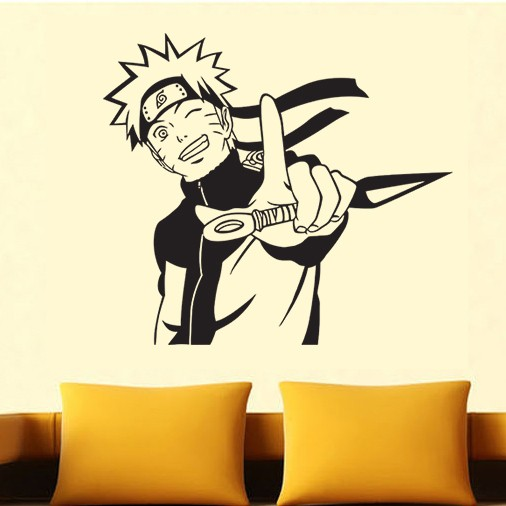 Free-shiping-Room-decoration-Naruto-cartoon-wall-stickers-bedroom-bedside-background-personality