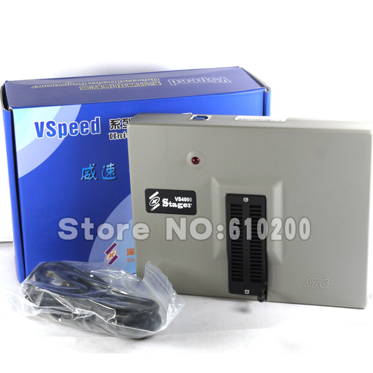 цены Free Shipping NEW VSpeed VS4000 High Performance USB Universal programmer support 40 pins 15000 IC for EEPROM,FLASH,MCU,PLD