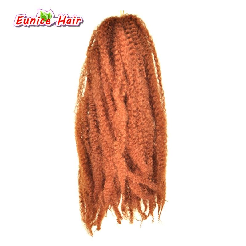 Strands Afro Marley Braids Hair 20Strands/Pack Kanekalon Fiber Crochet Twist Hair Extensions 18inch 100g