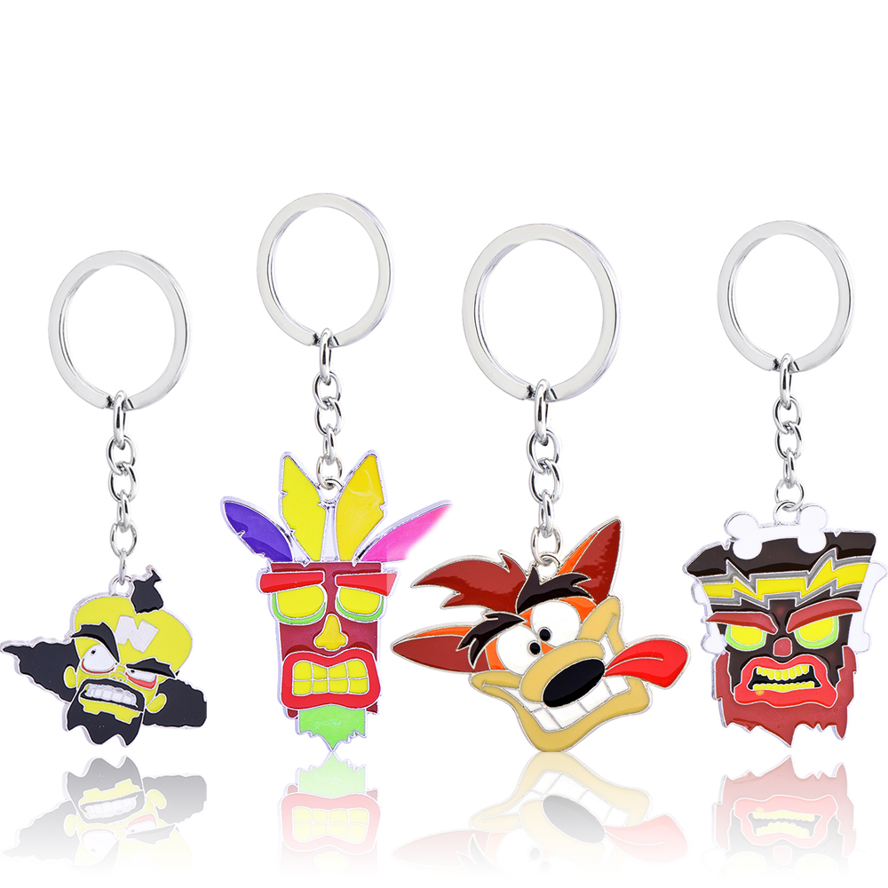 цена на Crash Bandicoot Trilogy Crash Bandicoot alloy key ring pendant Europe and the United States