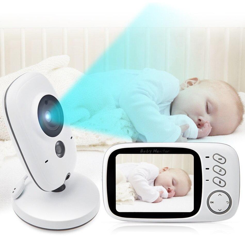 Baby Monitor baba electronics baby monitors 3.2inch LCD IR Night vision 2 way talk 8 lullabies Temperature monitor baby monitor