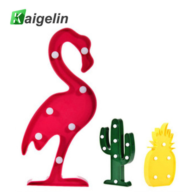 3d led flamingo lamp pineapple cactus nightlight romantic night light table lamp for christmas decorations home