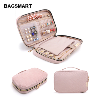 BAGSMART Travel Bags Women Cosmetic Bag Jewelry Holder Necklace Bracelet Ear Ring Pouch Bag Jewelry Packing Bags bagsmart 17 travel bags for clothes