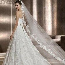 2021 Real Photos White/Ivory Wedding Veil 3m Long Comb Lace Mantilla Cathedral Bridal Veils Wedding Accessories Veu De Noiva