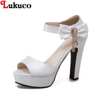2018 New sale summer pumps Lukuco women shoes CN super large size 38 39 40 41 42 43 44 45 46 47 48 free shipping women sandal