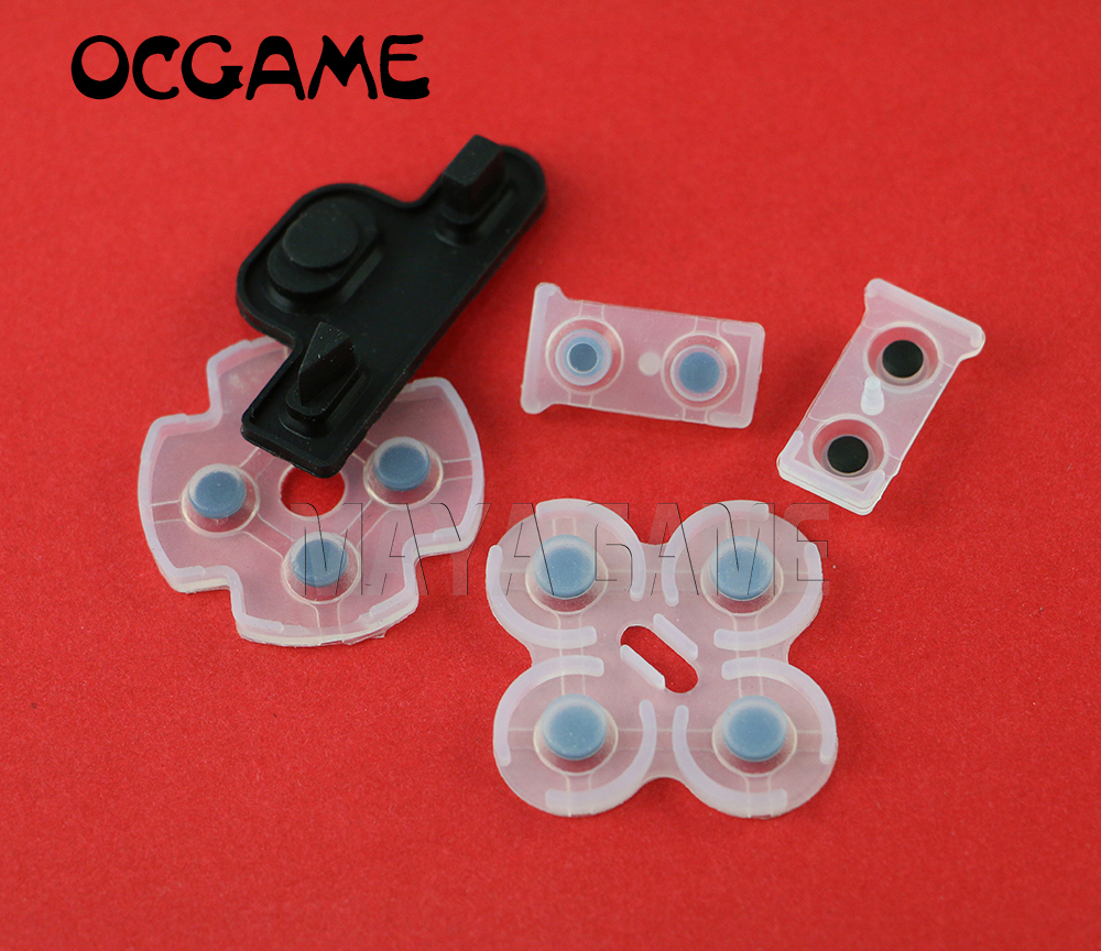 5sets/lot For Playstation 3 PS3 Controller Dualshock 3 Repair Part Silicone Conductive Rubber Pad Replacement OCGAME