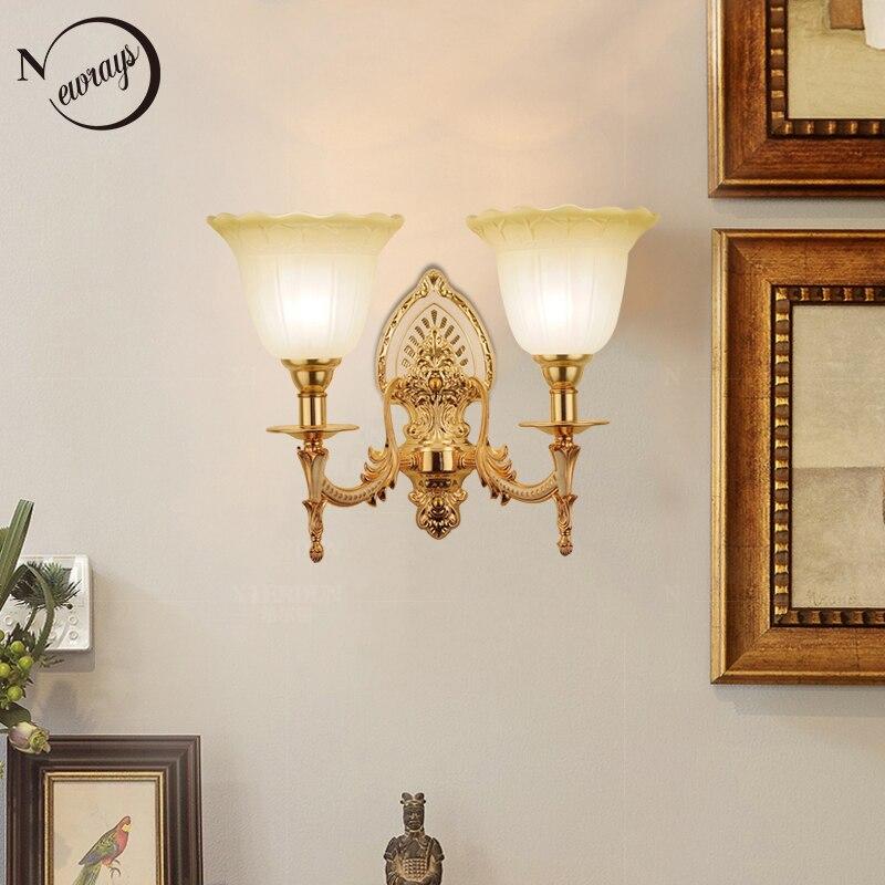 цена на Modern plated metal glass royal jade wall Lamp LED E27 220V minimalist Wall Lights for living room bedroom restaurant hotel bar