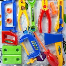 QICSYXJ Birthday Gift Supply Children Classic Toy Pretend Play Maintenance Tool Toy Plastic Saw Pliers Hammer Wrench for Boys