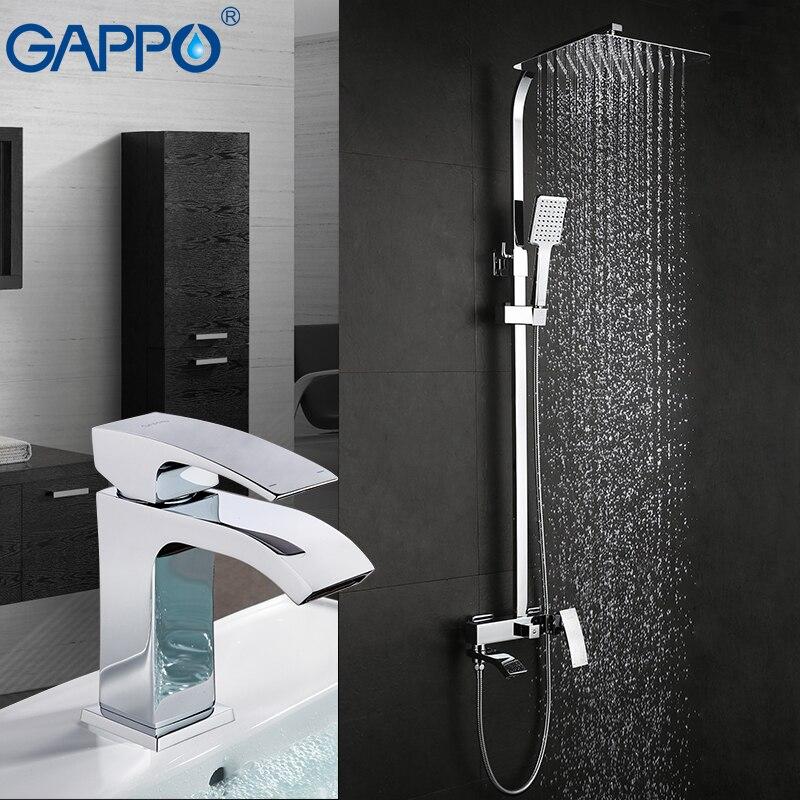 GAPPO Douche Robinets de bain mélangeur pour baignoire cascade douche robinets bassin robinets bassin robinet mélangeur précipitations ensemble de douche