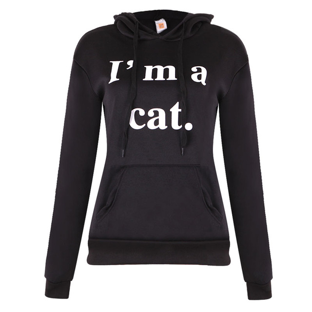 Hoodies Sweatshirt Long Sleeve Hoody Cat Ears