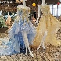 LS00241lace Up Gowns Luxury Flowers Lace Evening Dresses 2017 Avondjurk Vestido De Festa De Luxo Vestido