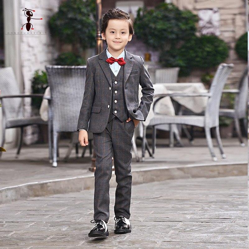 цена Kung Fu Ant Kids Wedding Suit Costume Enfant Garcon Mariage Cool Clothing Blazer for Boys Children Suits D111 онлайн в 2017 году