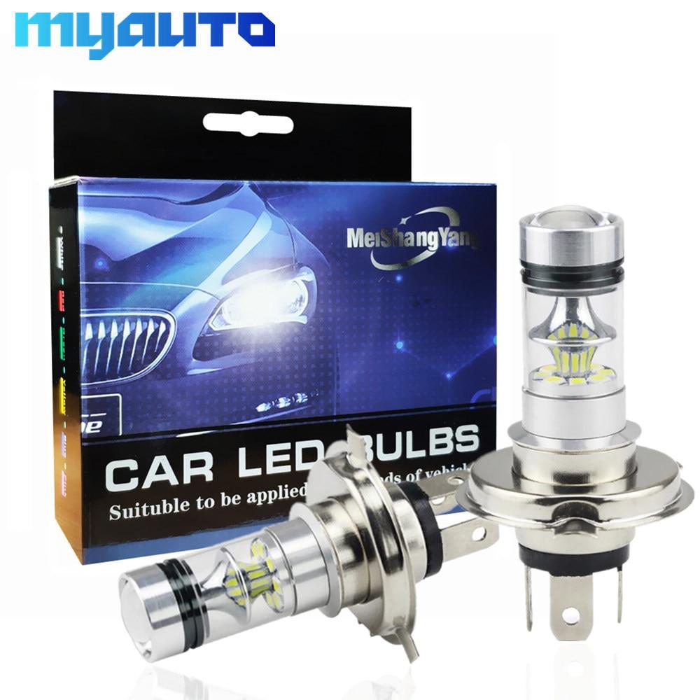2pcs H4 LED High Power H4 100W 20 SMD DC 12V-24V Super Bright Auto LED Reverse XBD LED Fog/Driving Light Bulb Lamp