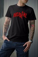 LEQEMAO Arcade Fire T Shirt O Neck Male Low Price Steam Punk New Style Top Tee
