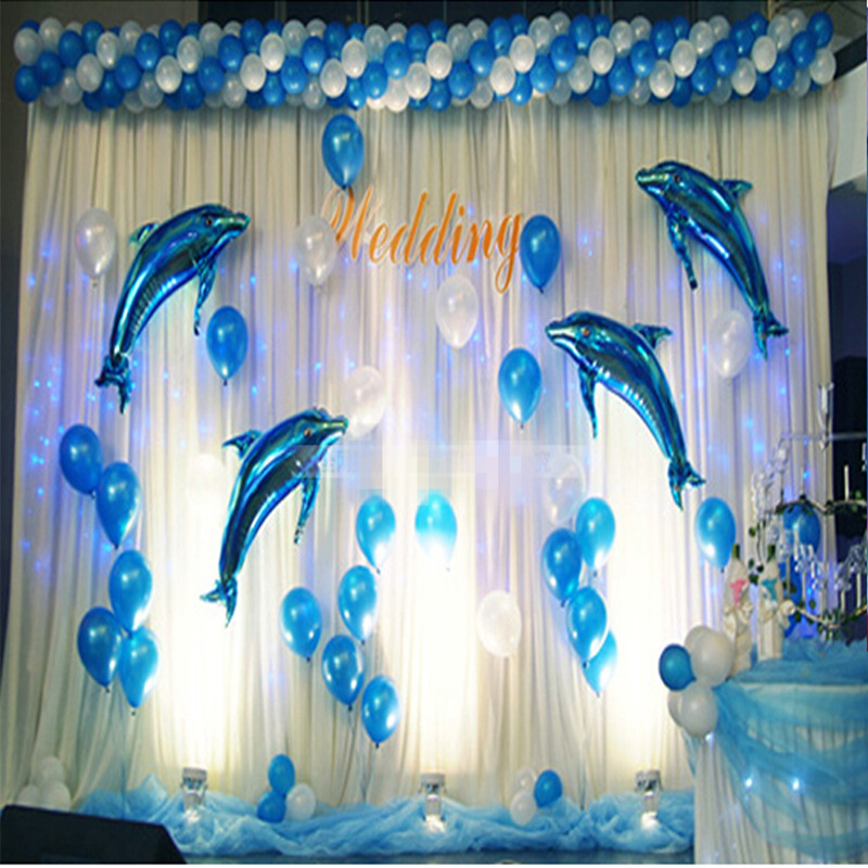 5pcs dolphin aluminum balloons 18 inch high quality blue pink