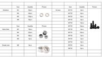 Free shipping many Kinds of Screws Nuts Assortment Kit M3 M4 M5 M6 screw and nut kits