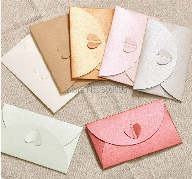 heart shaped invitation card envelopes greeting card decoration