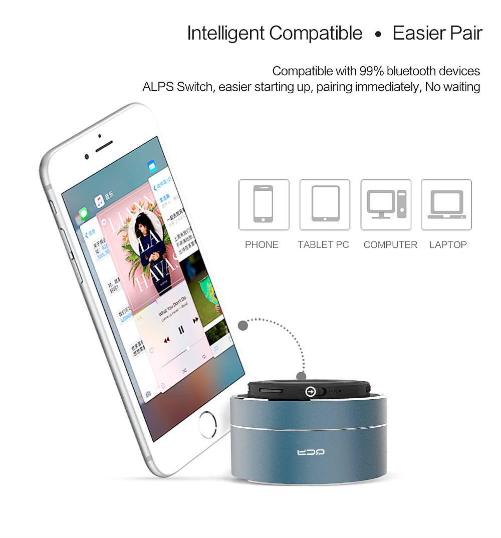 Portable Wireless Bluetooth Mini Speaker with Microphone