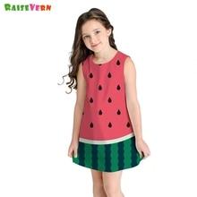 b0fa8b7eeebb New 8-11Y Kids Girls Clothes Sleeveless Princess Dress Watermelon Printing  Summer Girls Dresses Party