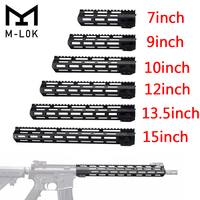 Tactical Free Float M LOK Handguard Picatinny Rail Mount Scope Mount with Steel Barrel Nut for .223 5.56 AR15 M16 Hunting caza